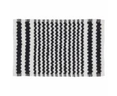 Sealskin Alfombra de baño negra a rayas, 50 x 80 cm, 294445419