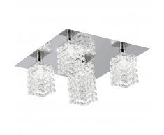 EGLO Lámpara de techo con cristales Pyton 85336
