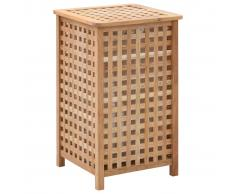 vidaXL Cesto para ropa sucia 39x39x65 cm madera maciza de nogal