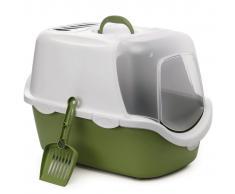 Stefanplast Caja de arena para gatos Cathy Easy Clean verde 400418