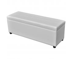 vidaXL Banco baúl de interior, color blanco, extra grande