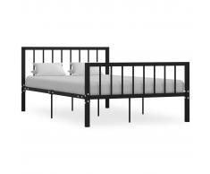 vidaXL Estructura de cama de metal negro 120x200 cm