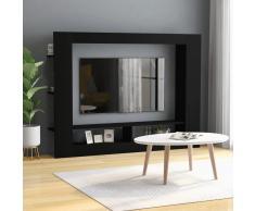 vidaXL Mueble para la TV de aglomerado negro 152x22x113 cm