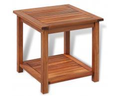 vidaXL Mesa auxiliar de madera maciza acacia 45x45x45 cm