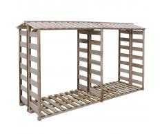 vidaXL Caseta para leña 300x100x176 cm madera de pino impregnada FSC