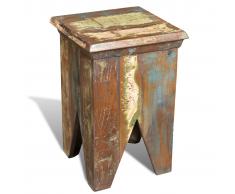 vidaXL Taburete de madera reciclada estilo antiguo