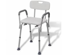 vidaXL asiento para ducha hecho de aluminio (Blanco)