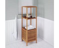 vidaXL Estantería de cuarto baño 39,5x35,5x123 cm madera nogal