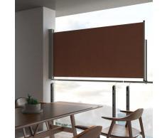 vidaXL Toldo lateral retráctil de jardín marrón 120x300 cm