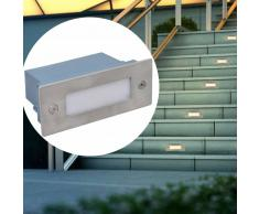 vidaXL Foco LED empotrable para escaleras 44 x 111 x 56 mm