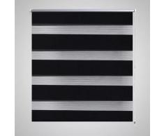 vidaXL Persiana Cebra 80 x 175cm Negro