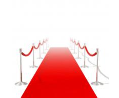 vidaXL Alfombra de pasillo roja 1 x 20 m muy densa 400 g / m²