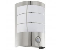 EGLO Aplique blanco de pared con sensor al aire libre, Cerno 75237