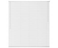 vidaXL Persiana aluminio 60x220 cm blanca