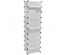 vidaXL Estante organizador de zapatos con 10 compartimientos 4x37x172cm