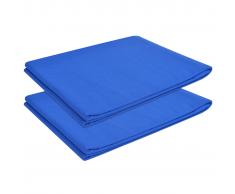 vidaXL Sábana de algodón 2 unidades 146x260 cm azul royal