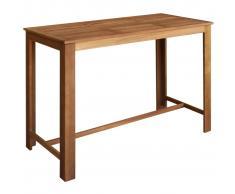 vidaXL Mesa de bar de madera de acacia maciza 150x70x105 cm
