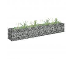 vidaXL Jardinera de gaviones de acero galvanizado 180x30x30 cm