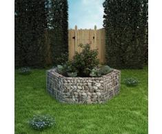 vidaXL Jardinera hexagonal de gaviones 160x139x50 cm
