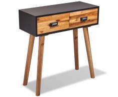 vidaXL Mesa consola de madera maciza de acacia 70x30x75 cm