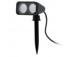 EGLO Foco LED al aire libre Nema 1 6 W negro 93385
