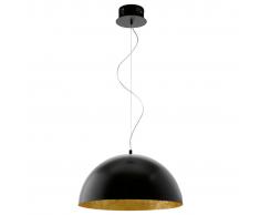 EGLO Lámpara colgante de techo LED, blanca y negra, Gaetano 94228