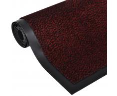 vidaXL Alfombra de entrada cuadrada, roja y antideslizante 120 x 90 cm