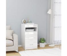vidaXL Cajonera de aglomerado blanco brillante 40x50x76 cm