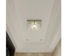 vidaXL Lámpara de techo vidrio, cristal cuadrado 1 x E27