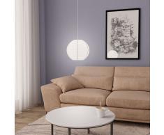 vidaXL Lámpara colgante blanca E27 Ø30 cm