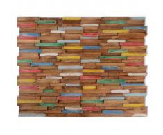 vidaXL Paneles de revestimiento pared 10 uds 1 m² teca