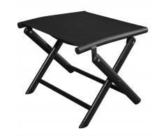 vidaXL Reposapies plegable aluminio y textileno negro