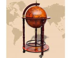 vidaXL Mueble bar de bola del mundo madera de eucalipto