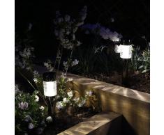 Luxform Lámpara solar de jardín LED Macon 12 piezas