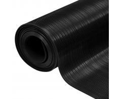 vidaXL Alfombrilla de goma antideslizante 1,5x4 m 3 mm acanalado fino
