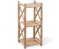 vidaXL Estantería de Bambú Cuadrada de 3 Niveles