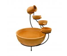 Ubbink Fuente de agua decorativagrande terracota 1387084