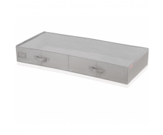 Leifheit Caja de almacenaje bajo la cama grande gris 106x45x15cm 80012