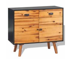 vidaXL Cómoda de madera de acacia maciza 90x33,5x83 cm