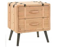 vidaXL Mesita de noche madera maciza de abeto 50x35x57 cm