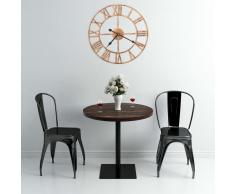 vidaXL Reloj de pared de metal dorado 40 cm