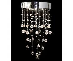 vidaXL Lámpara de araña con 180 cristales