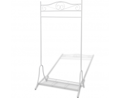 vidaXL Armario de Ropa Decorativo y Práctico Estructura Acero Blanco
