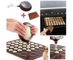 TRIBALSENSATION Kit para macarons | Bandeja de horno / molde de silicona + 1 dispensad
