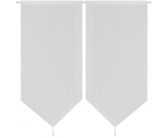 vidaXL 2 cortinas blancas transparentes imitación de lino, 60 x 160 cm