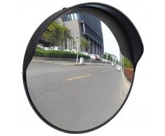 vidaXL Espejo convexo exteriores para el tráfico marco negro 30 cm