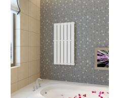 vidaXL Estante de toalla 465 mm panel de calefacción blanco 465x900 mm