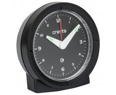 Cresta Reloj despertador analógico cuarzo BAA330 negro 24010.01