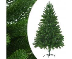 vidaXL Árbol artificial de Navidad con hojas realistas 180 cm verde