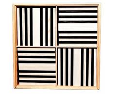 Kapla Set de 100 bloques madera negro y blanco KAPL172127